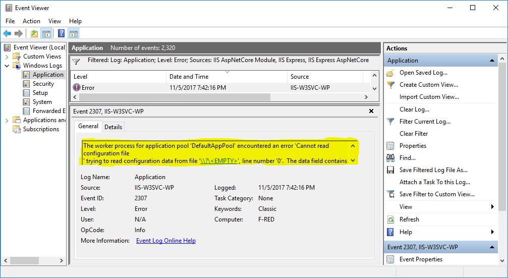 Solucionando HTTP Error 503 en el IIS - Con Todo El Power 2 0!